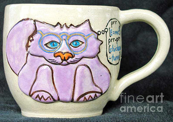 Smart Kitty Mug Print by Joyce Jackson