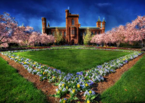 Smithsonian Castle Garden Print by Shelley Neff