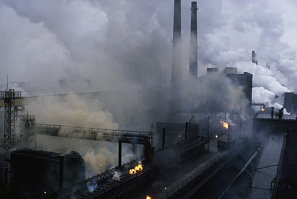 Smoke Spews From The Coke-production Print by James L. Stanfield