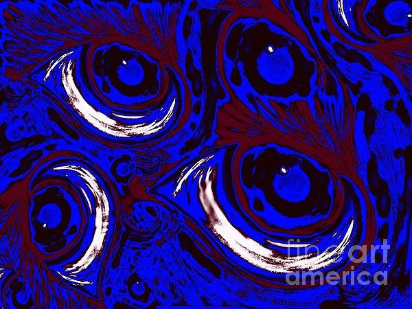 Smudge Eyes Print by Tina Logan