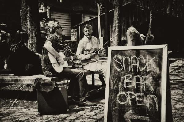 Snack Bar Open Print by Bill Cannon