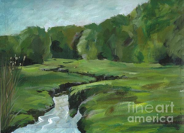 Snake Like Creek 2 Maine Print by Claire Gagnon