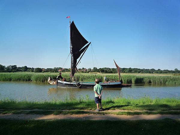 Snape Maltings Print by Charles Stuart