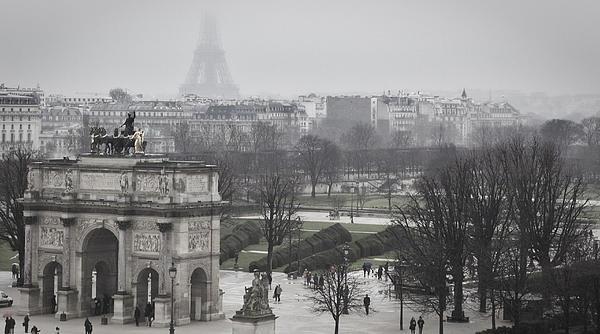 Sneaky Eiffel Print by Jonathan Ellison