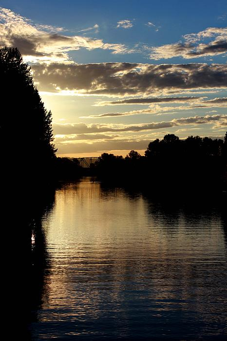 Paula Cossey - Snohomish River looking West