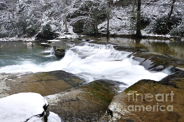Snow Along The Back Fork Of Elk River Print by Thomas R Fletcher