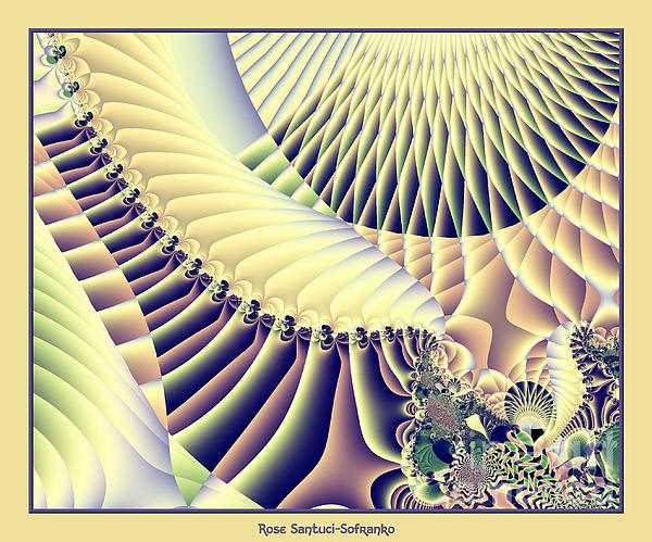 Snow Capped Mountains And Verdant Valleys Fractal 156 Print by Rose Santuci-Sofranko