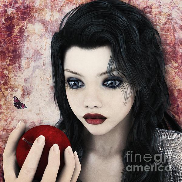 Snow White Print by Jutta Maria Pusl