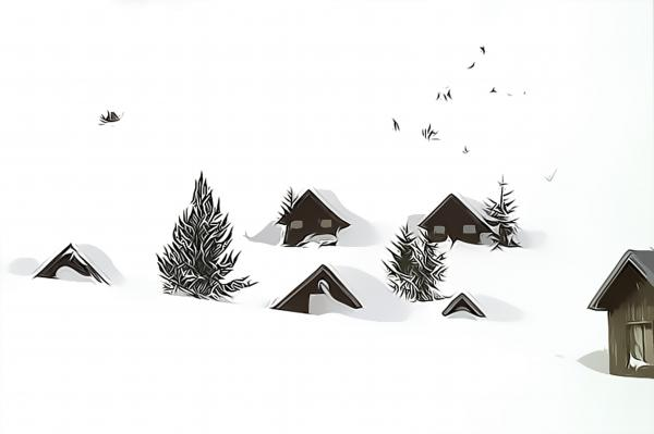 Snowed In Print by Gareth Davies