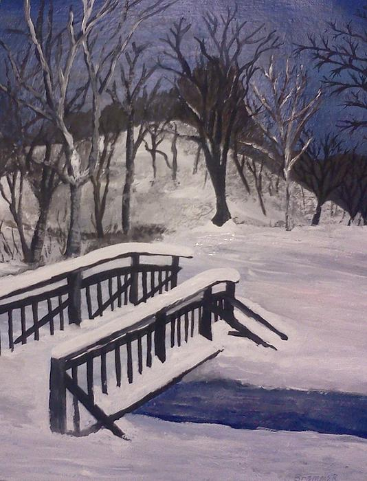 Snowstorm In Ohio Print by Christy Brammer