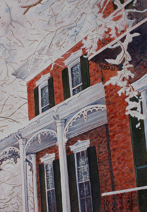Snowy Yesteryear Print by Patsy Sharpe