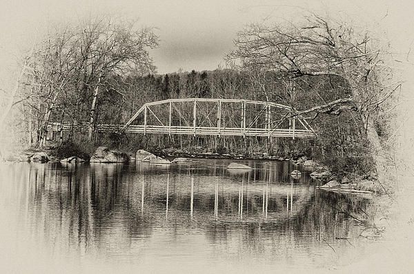 Bill Cannon - Snyder Road Bridge at Green Lane Park in Sepia