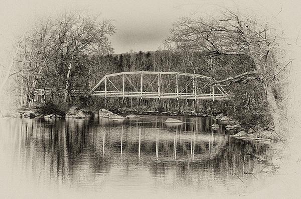 Bill Cannon - Snyder Road Bridge at Green Lane Park in Sepia