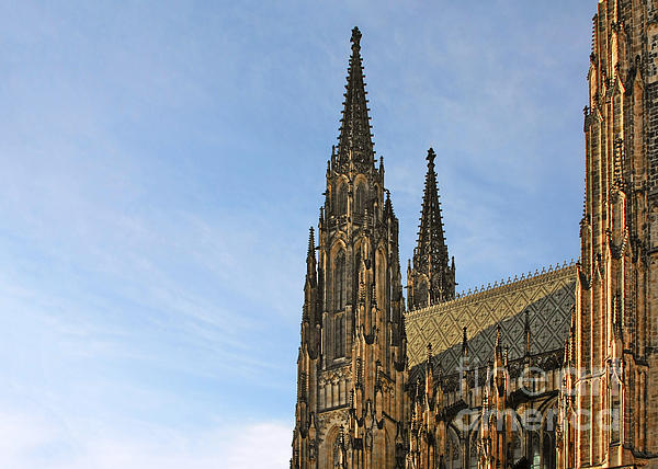 Soaring Spires Saint Vitus' Cathedral Prague Print by Christine Till