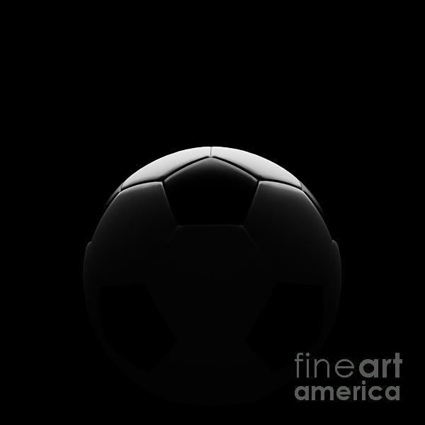 Chatuporn Sornlampoo - Soccer ball on black with beautiful back lighting