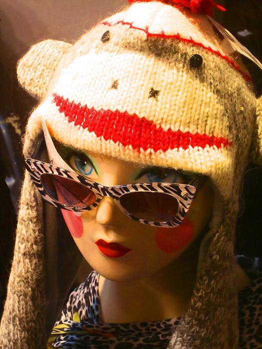Sock Monkey Zebra Glasses Print by Kym Backland