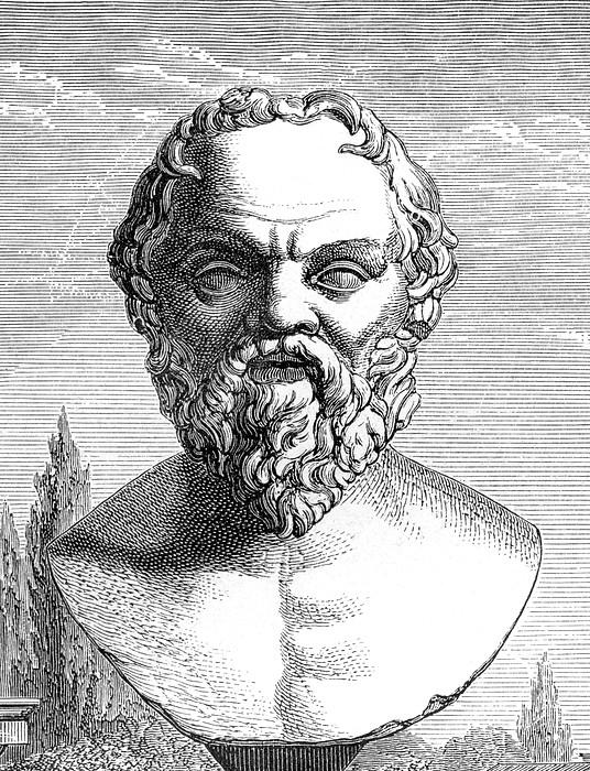 Socrates, Ancient Greek Philosopher Print by