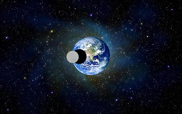 Solar Eclipse Print by Bruce Iorio