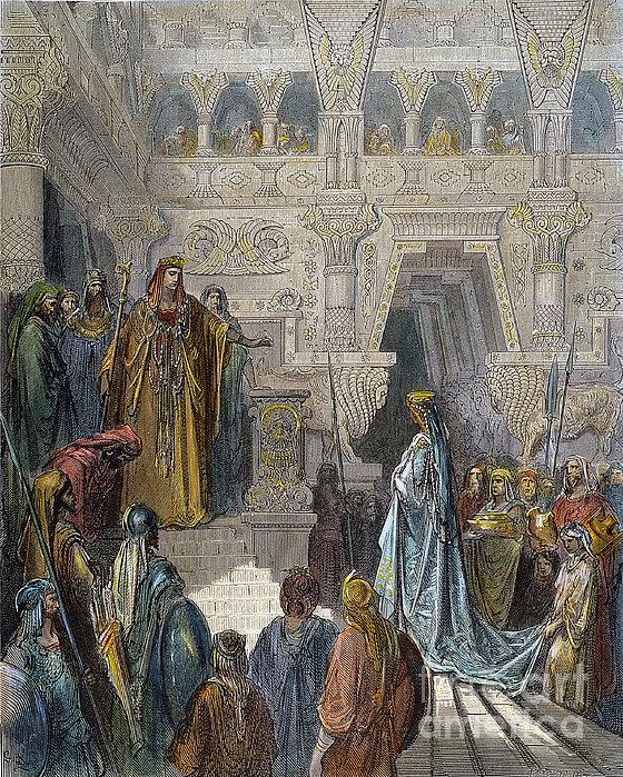 Solomon Receiving Sheba Print by Granger