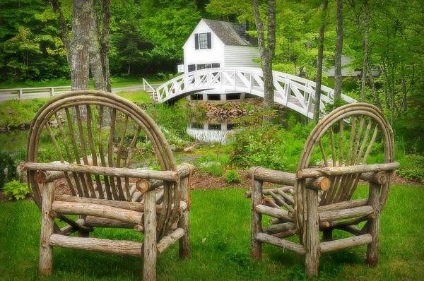 Somesville Maine - Arched Bridge Print by Thomas Schoeller