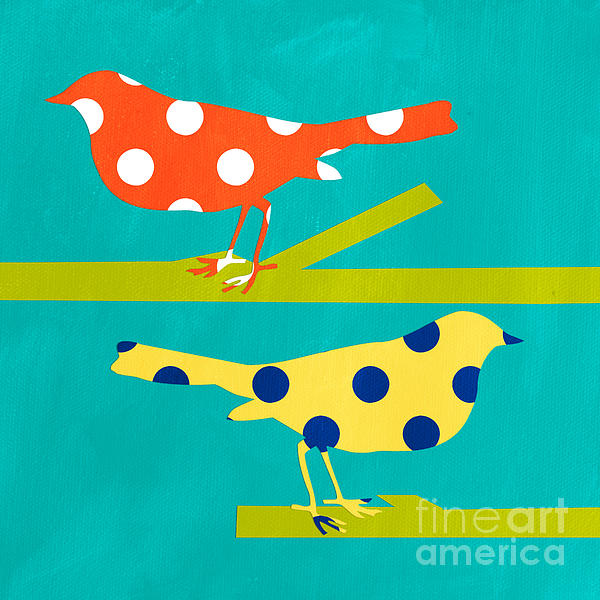 Song Birds Print by Linda Woods