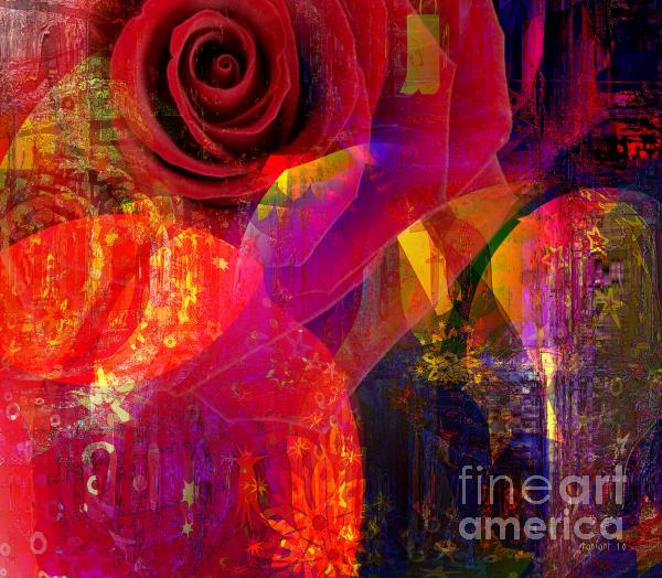 Song Of Solomon - Rose Of Sharon Mixed Media
