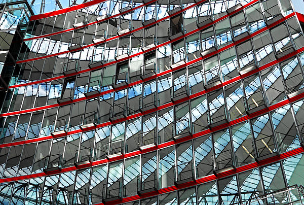 Sony Center - Berlin Print by Juergen Weiss