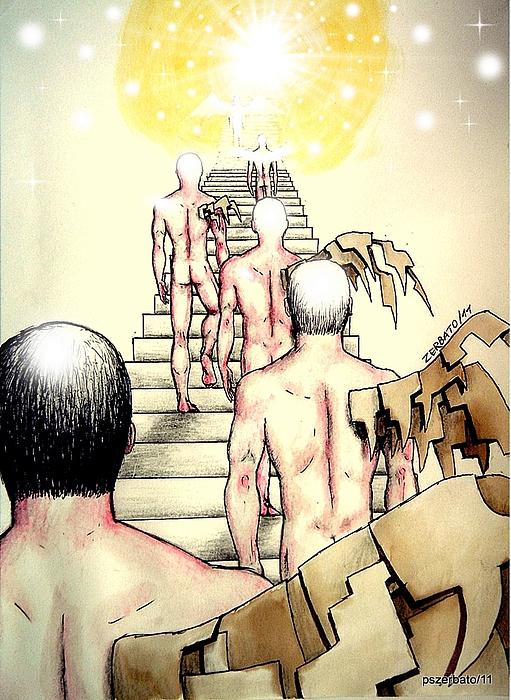 Souls Who Populate The Path Of Light Print by Paulo Zerbato