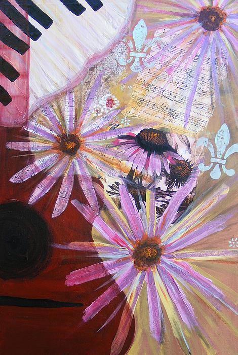Sounds Like Flowers Print by Christina Fajardo