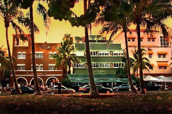 South Beach Ocean Drive Print by Steven Sparks