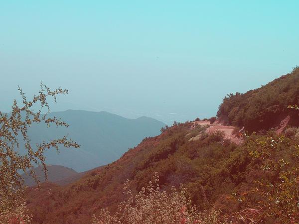 Southern California Mountains Print by Naxart Studio