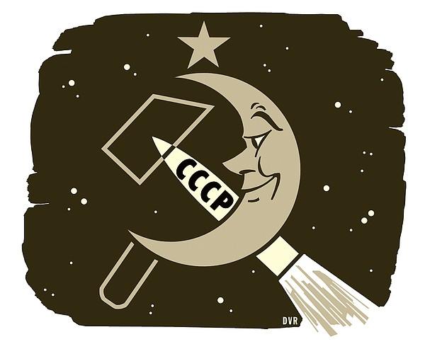 Soviet Moon Exploration, Artwork Print by Detlev Van Ravenswaay