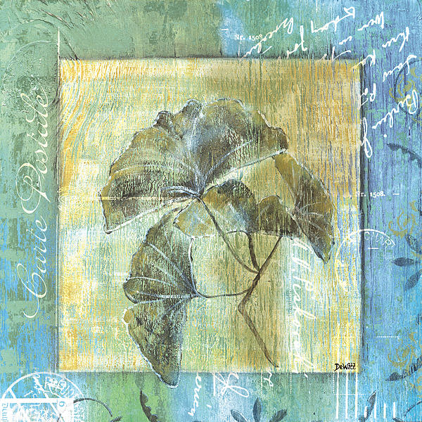 Spa Gingko Postcard  2 Print by Debbie DeWitt