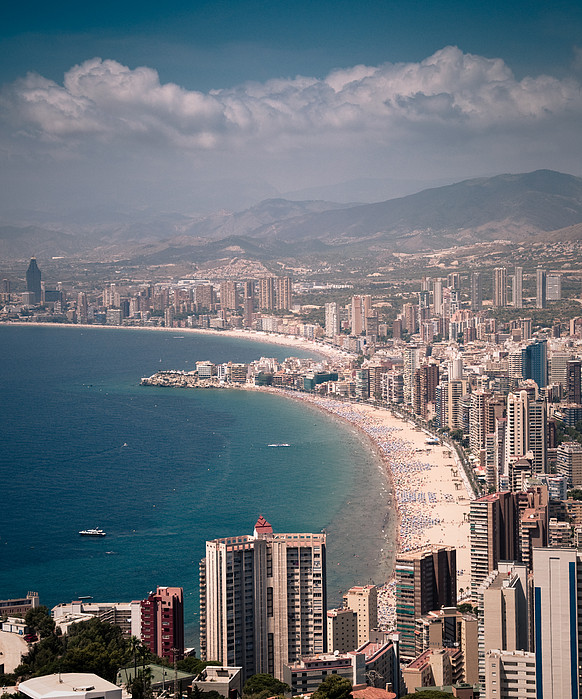 Benidorm - Costa Blanca Spain  city images : Spain, Costa Blanca, Benidorm Print by Jonatan Martin