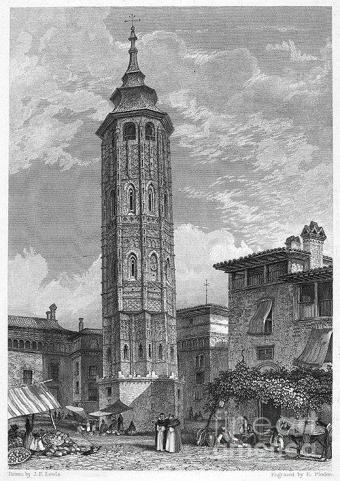 Spain: Saragossa, 1833 Print by Granger