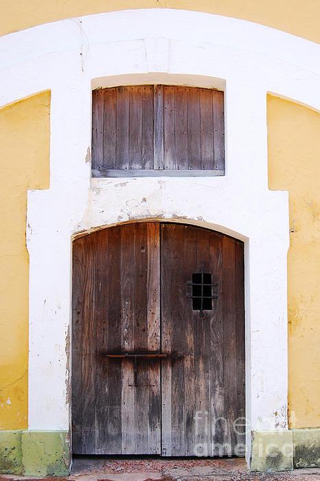 Spanish Fort Door Castillo San Felipe Del Morro San Juan Puerto Rico Prints Print by Shawn O'Brien