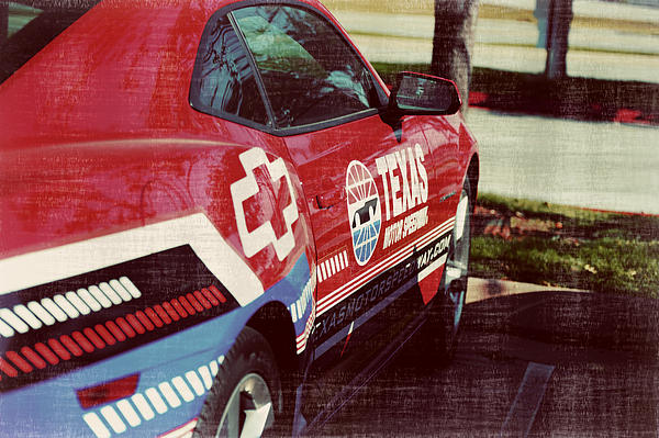 Speedway Camaro II Print by Malania Hammer
