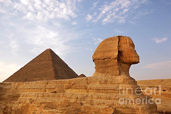 Sphinx Of Giza Print by Jane Rix