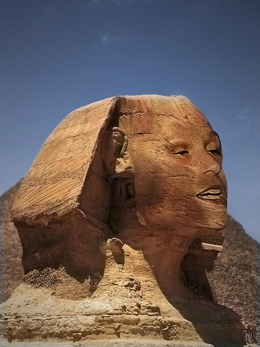 Sphinx Petra Print by Nafets Nuarb