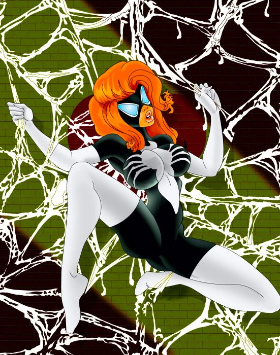 Spider Woman In The Web Painting  - Spider Woman In The Web Fine Art Print