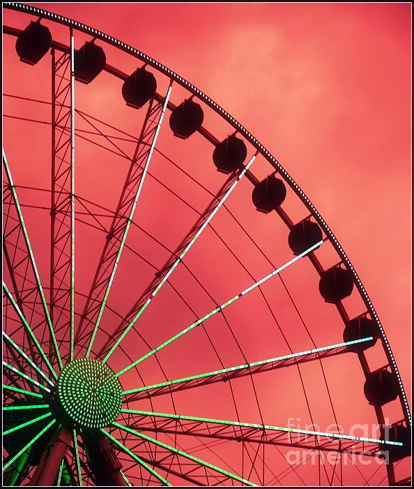 Spinning Wheel  Print by Karen Wiles