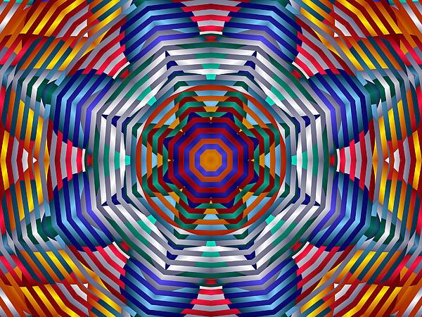Spinning Wheels Print by Mario Carini