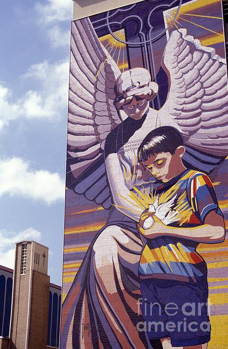 Spirit Of Healing Mural San Antonio Texas Print by John  Mitchell