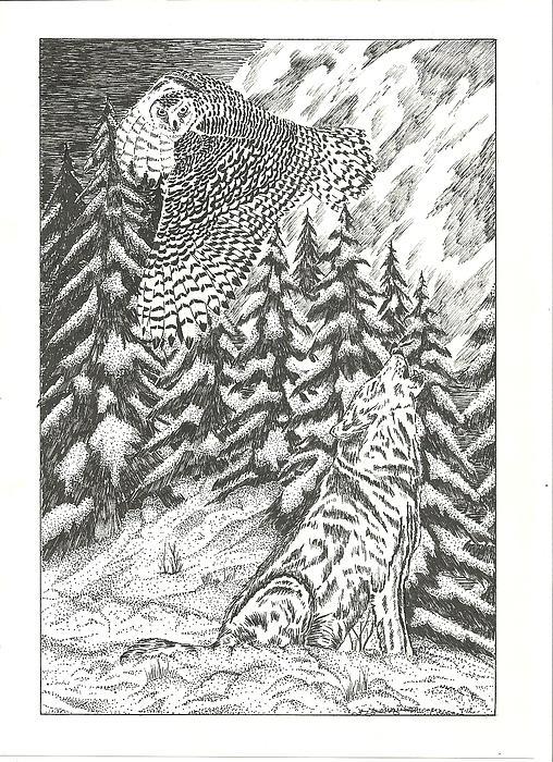 Spirits Of The Moon Print by Thomas  Ferguson