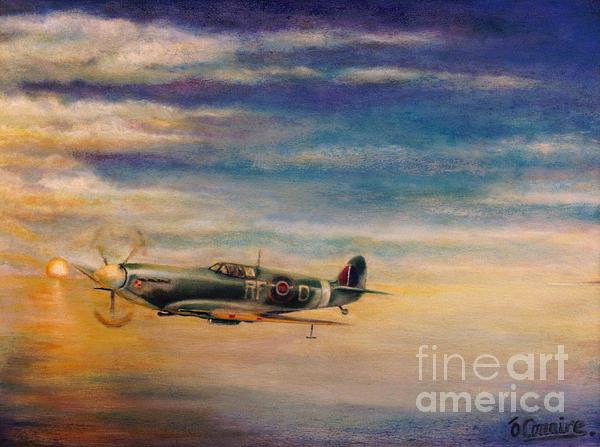 Spitfire In Flight Print by Liam O Conaire