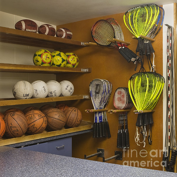 Sports Equipment Display Print by Andersen Ross