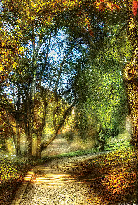 Spring - Landscape - My Journey My Path Print by Mike Savad