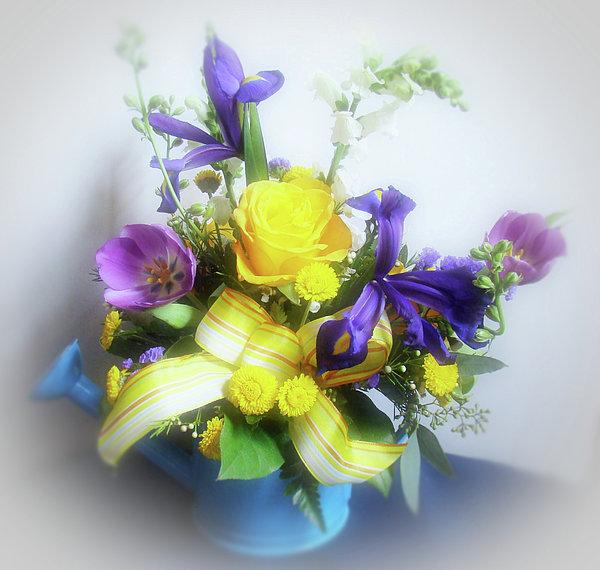 Spring Bouquet Print by Sandy Keeton