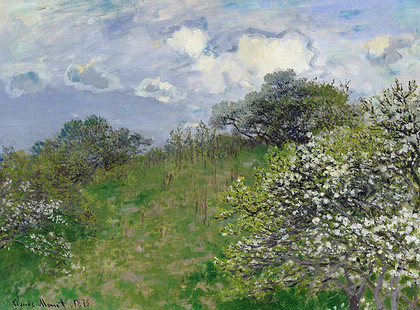 Spring Print by Claude Monet