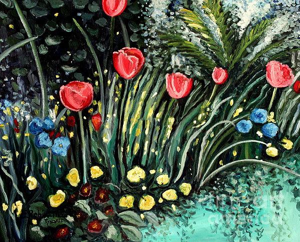 Spring Garden Print by Elizabeth Robinette Tyndall